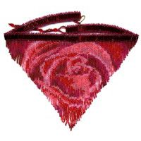 Blood Rose Fringe Necklace Pattern and Kit