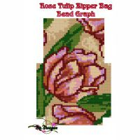 Rose Tulip Zipper Bag, Bead Graph, Instructions & Kit